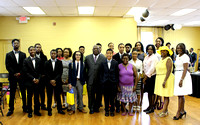 Graduates with Pastor Fredrick Russell