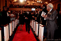Mrs. Byrd escorted to stage.  - (c) Official Berean SDA Church Photo by Burdie Henri