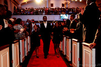 The Byrd children entering the church.  - (c) Official Berean SDA Church Photo by Burdie Henri