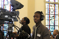 Videographer. September 8, 2012 (Official Berean SDA Church Photo by Richard White)