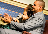 Riley smiles at her grandparents in the audience.  (Official Berean SDA Church Photo by Burdie Henri)