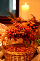 Basket of Grapes & Decorations
