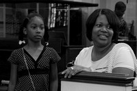 Mother and daughter after first service. April 28, 2012 (Official Berean SDA Church Photo by David Stewart)